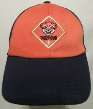 4b6f2a29acce8 TIGER CUB SCOUT HAT CAP ADJUSTABLE SMALL/MEDIUM TWILL EMBROIDERED LOGO