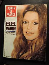 1972 JOURS DE FRANCE N 927 BRIGITTE BARDOT VADIM PETULA CLARK MODE SHERRER