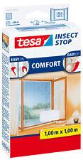tesa Fliegengitter für Fenster weiß 100x100cm Comfort-fenster