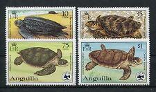 Anguilla 541/44 postfrisch / Schildkröten - WWF ...........................1/590