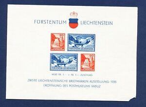 LIECHTENSTEIN - # B14 - VFMNH S/S w/ small loss at LR -  Postal Museum - 1936