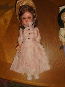 """BEAUTIFUL VINTAGE 11"""" FRENCH DOLL w/ORIGINAL CLOTHING NICE CONDITION 40's era,"""