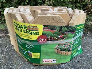 GREENES CEDAR LAWN EDGING RC41 Garden Flower Bed Driveway 10' Roll Ornament
