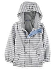 Osh Kosh B'gosh Boys Gray Striped Windbreaker Jacket  Size 2T 3T 4T 4 5/6 7
