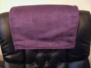 """Purple suede 15x15 """" Recliner Sofa furniture love seat leather damage protector"""