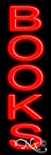 """BRAND NEW """"BOOKS"""" 24x8 VERTICAL REAL NEON SIGN W/CUSTOM OPTIONS 12203"""
