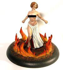 Concubine of Flame, 28mm resin cast girl miniature feora warmachine menoth nude