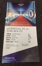 2019 UEFA Super Cup Final ticket:- Liverpool v Chelsea. 14/8/2019. VGC.