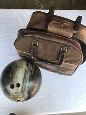 Ebornite Bowling Ball with Brunswick Carrying Case/ Women's 10lb./Brown *