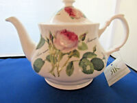 REDOUTE ROSE ,  FINE BONE CHINA , MADE ENGLAND TEAPOT 6 CUP, 36oz ROY KIRKHAM