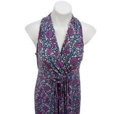 Motherhood Women Medium Maxi Dress Purple Sleeveless Maternity Floral 06331
