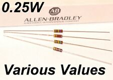 ALLEN BRADLEY 1/4W RCR07 resistor various values: 10R 100R 1K 10K 1M 10M other