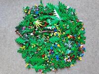 100 Gramm 0,1 Kg Lego Pflanzen Blumen Palmen Büsche Grün Blüten Bäume Konvolut