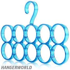 Porta Sciarpe Porta Accessori in Plastica da Appendere 10 Sciarpe Hangerworld™