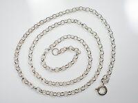 Tolle 835 Silber Kette Unisex Damen Herren Elegant Top Erbsenkette Klassiker