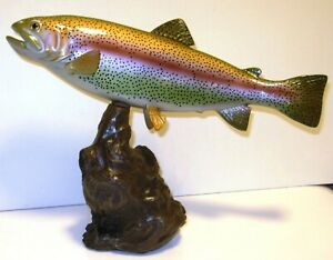 Rainbow Trout 13 Inch Driftwood Style Statue