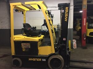 2015 Hyster 5000 LB Electric Forklift With 2 Stage Mast and Side Shift