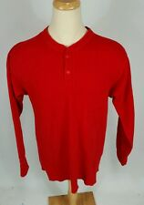 Minty Firefighters Vintage LL Bean River Drivers Thermal Henley Shirt L Wool