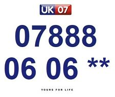 07888 06 06 **  - Gold Easy Memorable Business Platinum VIP UK Mobile Numbers