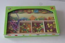 Gleeful Garden Child's Wooden Bead Set - Melissa & Doug - Age 4+ in Wooden Box