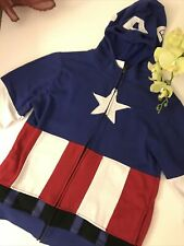MARVEL Captain America Boys XL Youth Sz Msk Costume Zip Hoodie Jacket