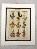 1886 Antik Aufdruck Heraldik Wappen Heraldische Kunst Familie Crest Europäische