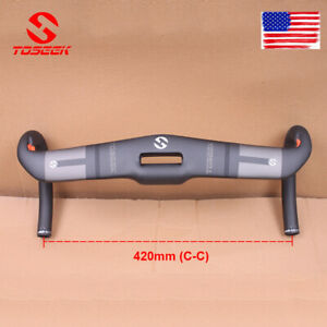 US TOSEEK 420mm Handlebar Full Carbon Road Bike Drop Bars 31.8mm Aero Bicycle