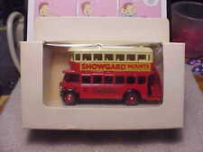 Lledo Promotional Models Showgard Mounts Double Decker Bus Red Made in England