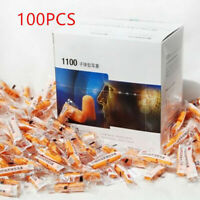 100 Pairs  1100 Disposable Soft Ear Plug Foam Noise Reducer Comfortable