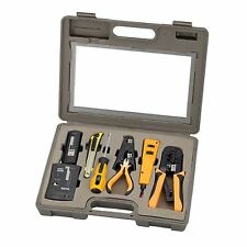10 PC Network Installation Tool Kit Includes LAN Data Cable Tester Crimper Case
