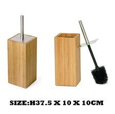 LUSSO in legno di bambù scopino e Supporto Accessorio Bagno Set Pulizia Nuovo