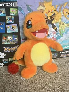 Build-A-Bear Pokemon Orange Yellow Charmander Stuffed Plush Retired 2016