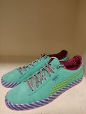 PUMA SUEDE CLASSIC POP CULTURE SNEAKERS BLUE/GREEN/PINK - NEW - SIZE 11
