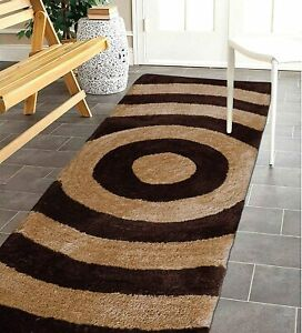 Beige Brown Color Ultra Soft Modern Rug Made Of Microfibre Polyester( 50x150 CM)