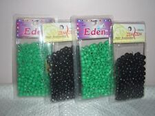 Black & Green Hair beads  (6 packs)