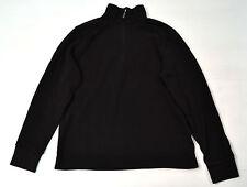 Calvin Klein Cotton Zip Henley Polo Long Sleeve Sweater Brown Medium