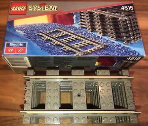 Lego 4515 Eisenbahn Schiene Schienen 8 Stück pro Schachtel OVP 9 Volt neuwertig