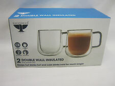 New Ravenhead Double Walled Coffee Glasses Cups Mugs 30CL Pk2 0041.799