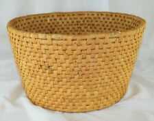"""Early 1910-20's Large Coiled Straw Seagrass Sawgrass Tribal Basket 6 3/4"""" X 13"""""""