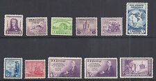 US 1933-1934 Commemorative Year Set / Lot of 11 Budget Free Shipping
