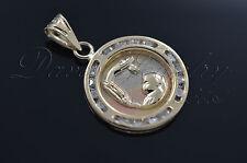 Baptims Charm / Medalla de Bautizo en 14k Garantizado! Grabado GRATIS 2605