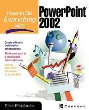How to Do Everything with PowerPoint(R) [Mar 26, 2002] Finkelstein, Ellen
