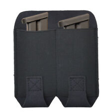 NEW Stretchy Tactical Double Pistol Magazine Pouch Molle Flashlight Bag
