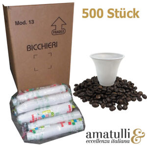 500 Espressobecher 8cl Einweg Becher 80ml Espresso Espressotasse Plastikbecher