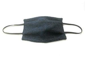 Authentic Harris Tweed Face Mask Double Layered Washable Reusable Adult Blue UK