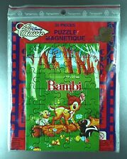 """ANCIEN PUZZLE MAGNETIQUE """"BAMBI"""" / NEUF SOUS BLISTER / DISNEY"""