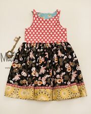 Matilda Jane Girls Size 6 Lottie Dottie Tank Dress Number 6 out of 9 Made New