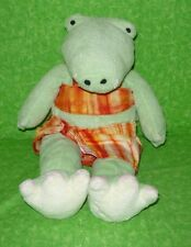 "Gund Pottery Barn Kids ALLIGATOR IN SWIMSUIT Plush Stuffed Toy 12"" GIGGLES Allie"