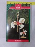 Vtg Hallmark Ornament ~ Tobin Fraley Carousel Horse ~ 1992 W/ Stand Ships FREE