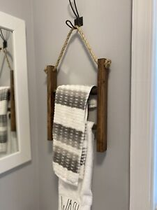 Handmade Wood - ladder hand towel holder